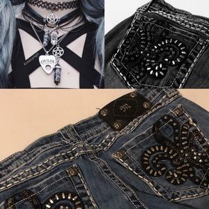 Punk Chic! Size 29 Miss Me Bootcut Jeans